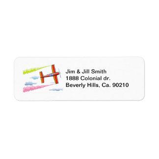 Sky Plane Flying Return Address Label