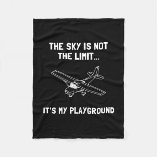 Sky Playground Plane Fleece Blanket