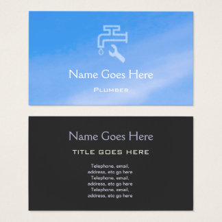 """Sky"" Plumber Business Cards"
