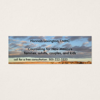 Sky Professional Therapy Counselor Minicard Mini Business Card