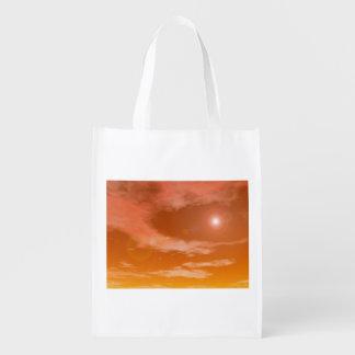sky_red_standard_sun reusable grocery bag