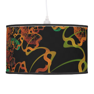Sky Roots Wildstyle Mural of Autumn Fractal Trees Pendant Lamp