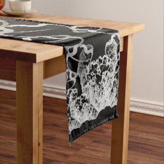 Sky Roots Wildstyle Mural of Autumn Fractal Trees Short Table Runner