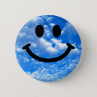 Sky Smiley 2 Inch Round Button
