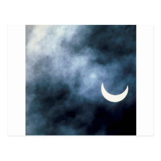 Sky Solar Eclipse Joshua Tree California Postcard