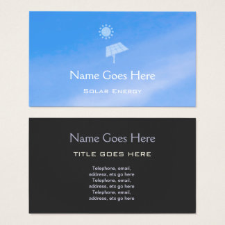 """Sky"" Solar Energy Business Cards"