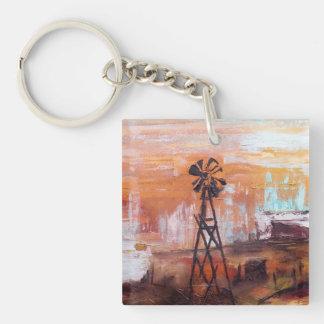Sky Storm Single-Sided Square Acrylic Keychain