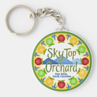 Sky Top Orchard Basic Round Button Keychain