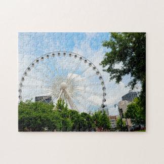Sky view Ferris Wheel Georgia . Jigsaw Puzzle