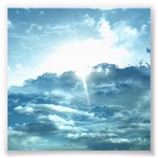 Sky view photo print