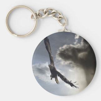 """Sky Warrior"" Bald Eagle Gifts Keychain"