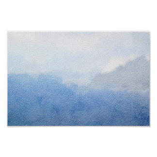 Sky Watercolor Painting Poster