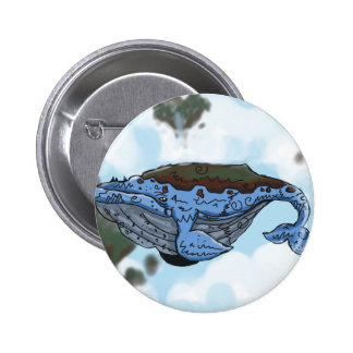 sky whale 2 inch round button