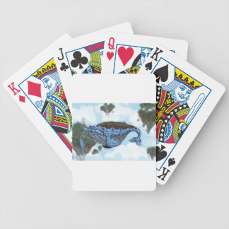 sky whale bicycle playing cards