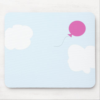 sky with a pink balloon mouse pad