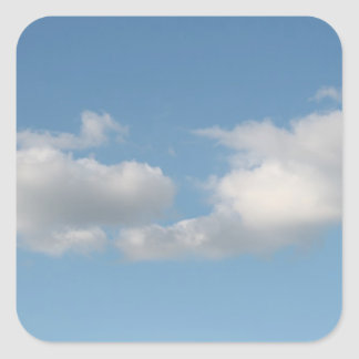 Sky with Clouds. Square Sticker