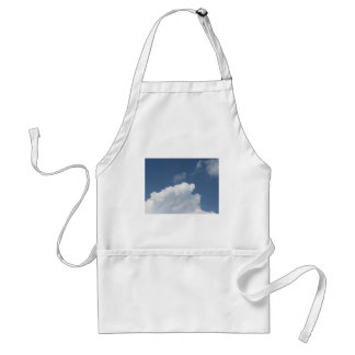 Sky with giants clouds and sun rays through standard apron