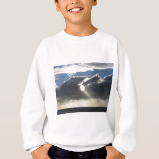 Sky with giants cumulonimbus clouds and sun rays sweatshirt