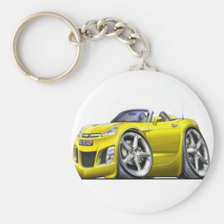 Sky Yellow Car Keychain