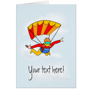 Skydive - Add your own text! Card