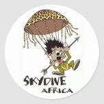 Skydive Africa Round Stickers