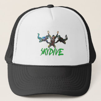 Skydive - Green Text Trucker Hat