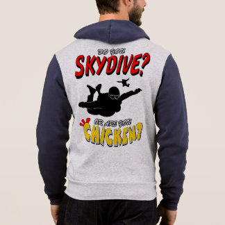 Skydive or Chicken? (blk) Hoodie