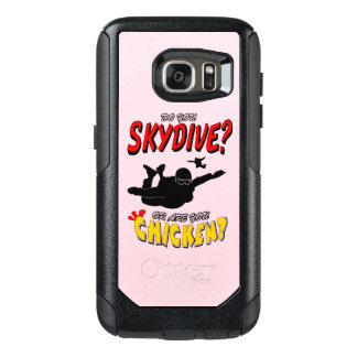 Skydive or Chicken? (blk) OtterBox Samsung Galaxy S7 Case