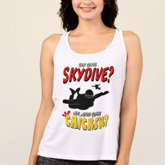 Skydive or Chicken? (blk) Tank Top