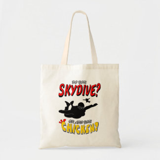 Skydive or Chicken? (blk) Tote Bag