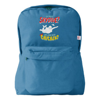 Skydive or Chicken? (wht) Backpack