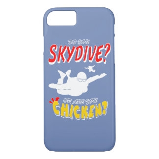 Skydive or Chicken? (wht) Case-Mate iPhone Case