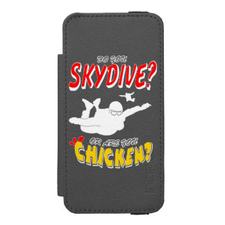 Skydive or Chicken? (wht) Incipio Watson™ iPhone 5 Wallet Case