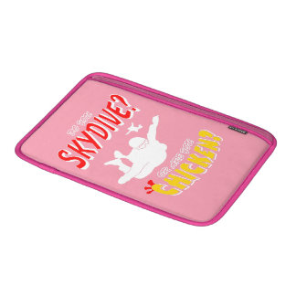 Skydive or Chicken? (wht) MacBook Sleeve