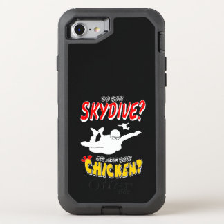 Skydive or Chicken? (wht) OtterBox Defender iPhone 8/7 Case
