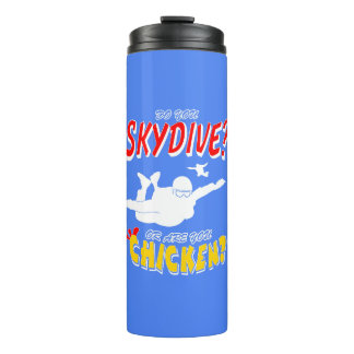Skydive or Chicken? (wht) Thermal Tumbler