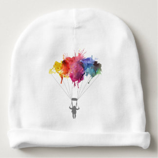 Skydiver, Parachute. Skydiving Sport. Parachuting Baby Beanie
