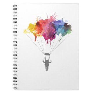 Skydiver, Parachute. Skydiving Sport. Parachuting Notebook