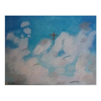 Skydivers over Shelton Postcard