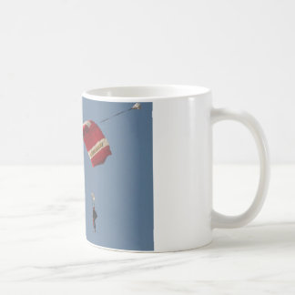 Skydiving as it relates to keeping an open mind. coffee mug