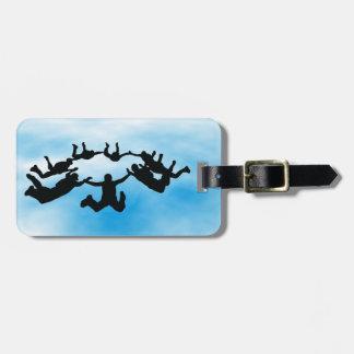 Skydiving Freefalling Design Luggage Tag