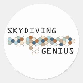 Skydiving Genius Stickers