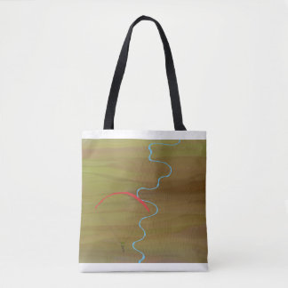 Skydiving in the desert tote bag