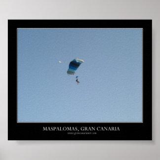 Skydiving Maspalomas, Gran Canaria Poster