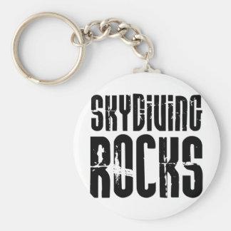 Skydiving Rocks Keychain