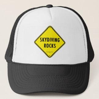 SKYDIVING ROCKS Road Sign Trucker Hat