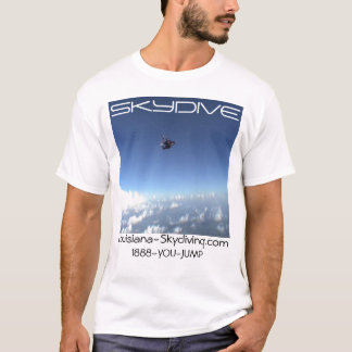 skydiving skydive parachute clouds logo T-Shirt