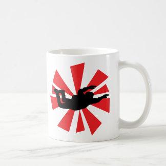 skydiving skydiver icon coffee mug