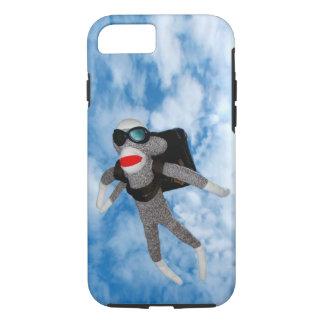 Skydiving Sockmonkey iPhone 7 Case