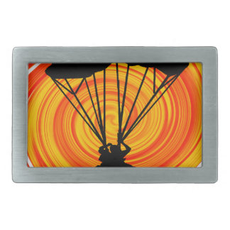 SKYDIVING SUN SETS BELT BUCKLE
